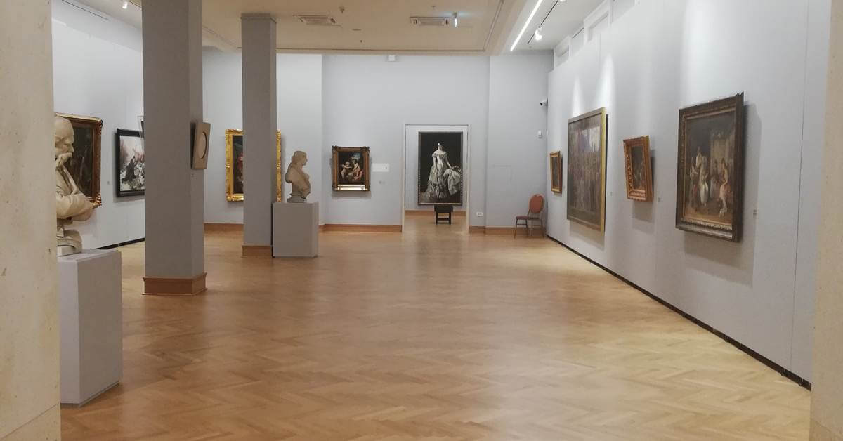 Drugi sprat Narodnog muzeja u Beogradu.