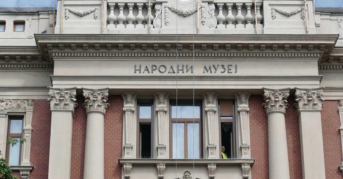 Spoljni izgled Narodnog muzeja u Beogradu