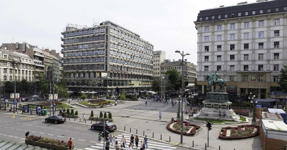 Trg u centru Beograda