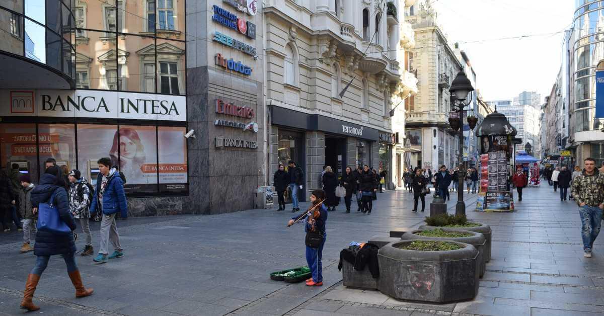 pogled na zgrade u Knez Mihailovoj ulici