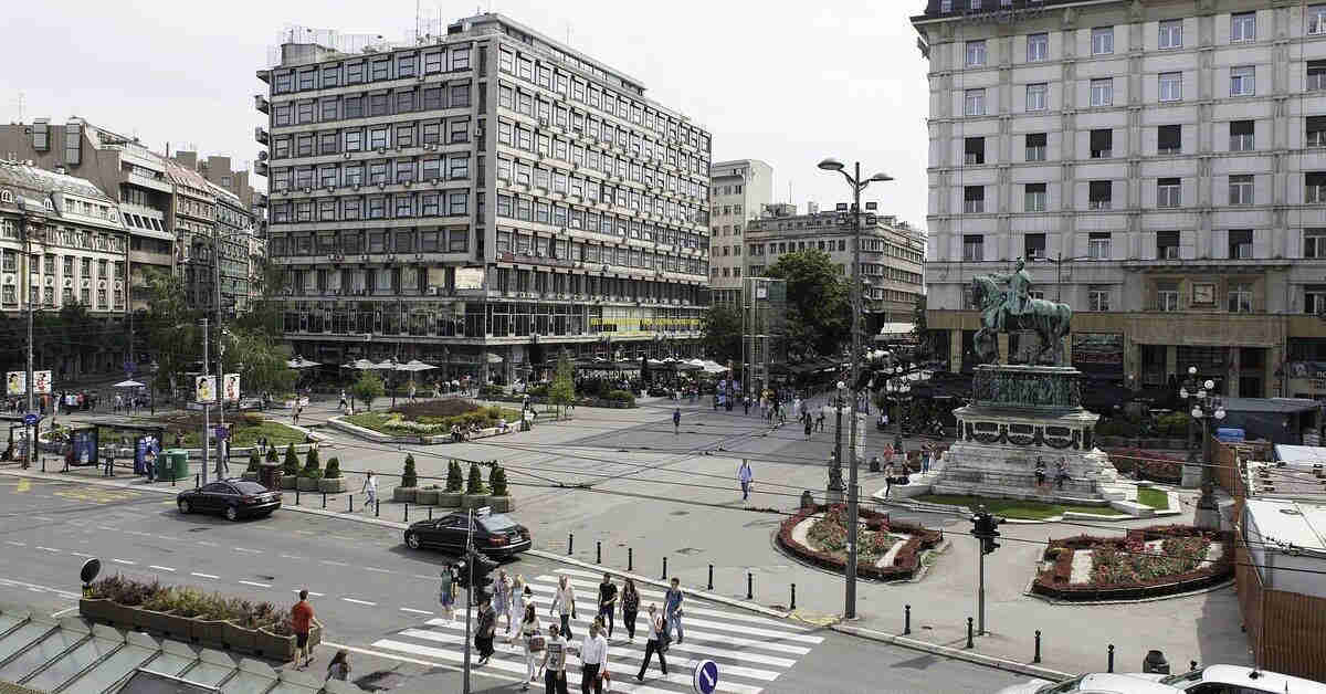 Fotografija centralnog trga grada Beograda