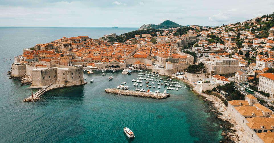 Prikaz Dubrovnika iz ptičije perspektive
